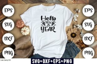 Print on Demand: Hello New Year Graphic Print Templates By Design_store