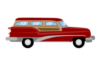 1950 S Style Car Cars Craft Cut File By Creative Fabrica Crafts