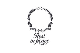 Rest in Peace Remembrance Craft Cut File By Creative Fabrica Crafts