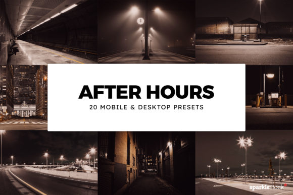 20 After Hours Lightroom Presets and LUT Graphic Actions & Presets By SparkleStock