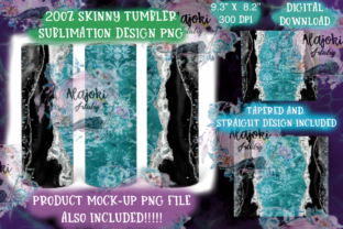 20oz Skinny Tumbler Sublimation Wrap Graphic Print Templates By Susan Alajoki