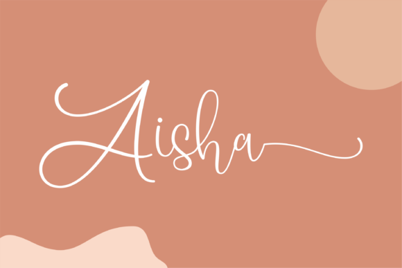 Print on Demand: Aisha Script & Handwritten Font By dickysyafaat