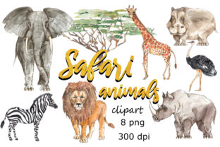 Animals Watercolor Clipart Collection Graphic Illustrations By arevkasunshine