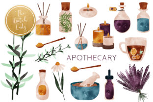 Print on Demand: Apothecary & Holistic Clipart Set Graphic Illustrations By daphnepopuliers