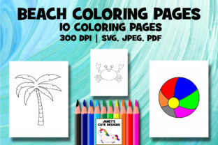Print on Demand: Beach Coloring Pages Graphic Coloring Pages & Books By Janet's Art Corner