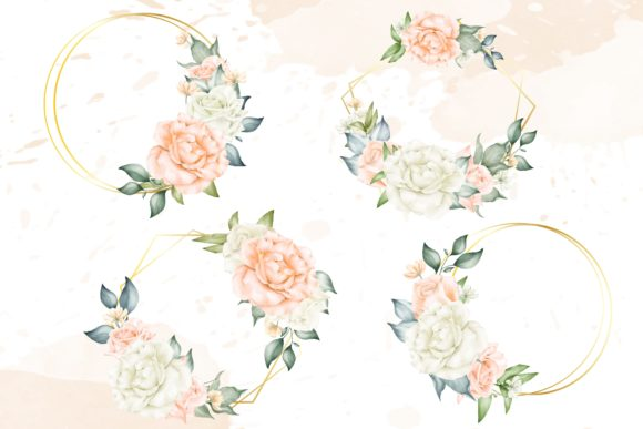 Print on Demand: Beautiful Floral Arrangement Collection Graphic Print Templates By FederiqoEND