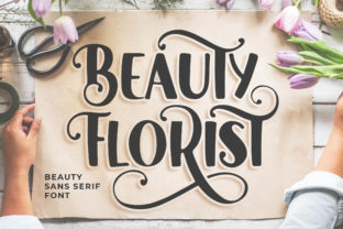 Print on Demand: Beauty Florist Sans Serif Schriftarten von Blankids Studio
