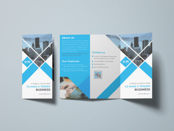 Business Tri-fold Brochure Template Graphic Print Templates By GraphicHut