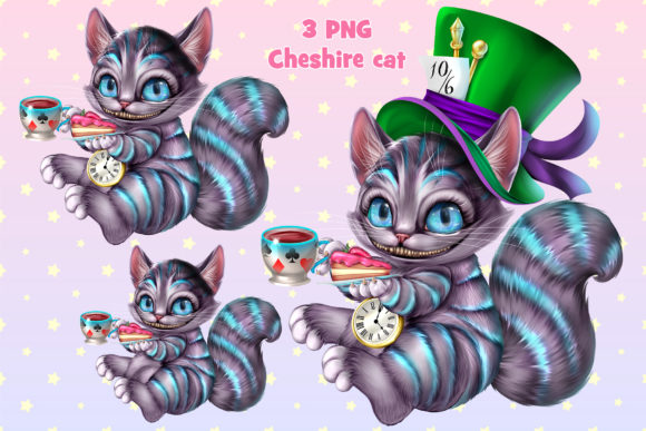 Print on Demand: Cheshire Cat Gráfico Ilustraciones Por ladymishka