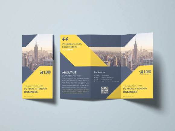 Corporate Tri-fold Brochure Design Graphic Print Templates By GraphicHut