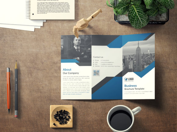 Corporate Tri-fold Brochure Template Graphic Print Templates By GraphicHut
