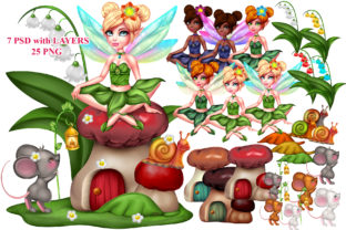 Print on Demand: Fairy World 01 Graphic Illustrations By ladymishka
