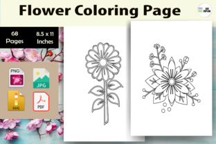 Print on Demand: Flower Coloring Page 2 - KDP Graphic Coloring Pages & Books Kids By Sei Ripan 1