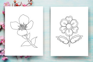 Print on Demand: Flower Coloring Page 2 - KDP Graphic Coloring Pages & Books Kids By Sei Ripan 2