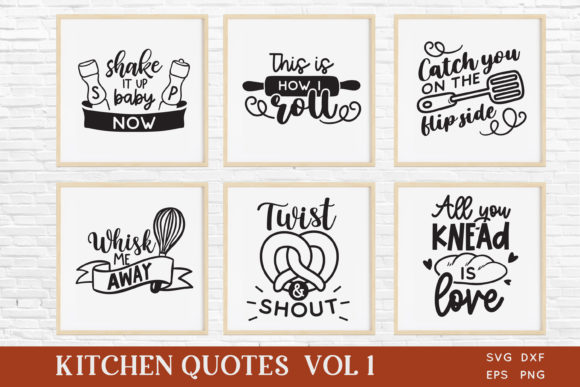 Funny Kitchen Quotes Svg Bundle Dxf Eps Gráfico Crafts Por peachycottoncandy