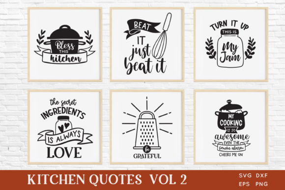 Funny Kitchen Quotes Svg Bundle Vol 2 Graphic Crafts By peachycottoncandy