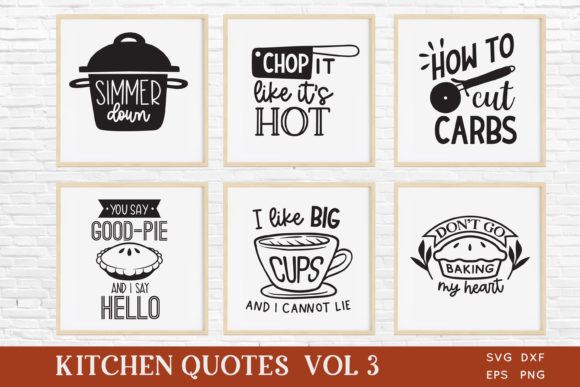 Funny Kitchen Quotes Svg Bundle Vol 3 Graphic Crafts By peachycottoncandy