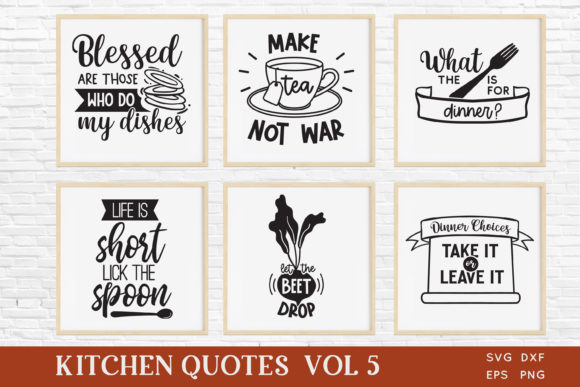 Funny Kitchen Quotes Svg Bundle Vol 5 Graphic Crafts By peachycottoncandy