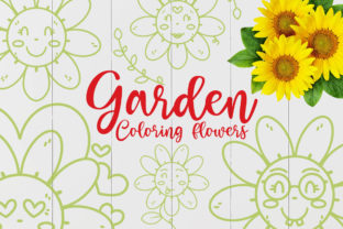 Garden Coloring Flowers Graphic Crafts By Firefly Designs