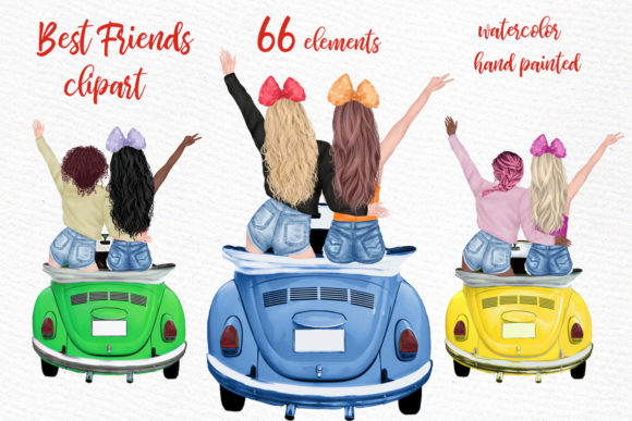 Girls Clipart Girl Illustrations Graphic Illustrations By LeCoqDesign