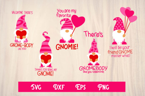 Print on Demand: Gnomes Valentine, Valentine Svg Graphic Print Templates By dadan_pm