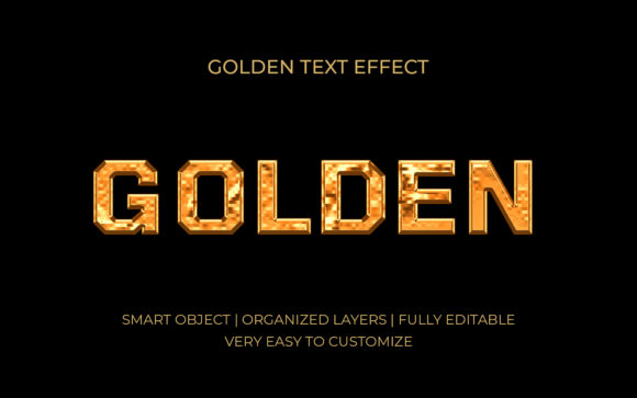 Golden Text Effect Grafik Grafik-Templates von GraphicHut