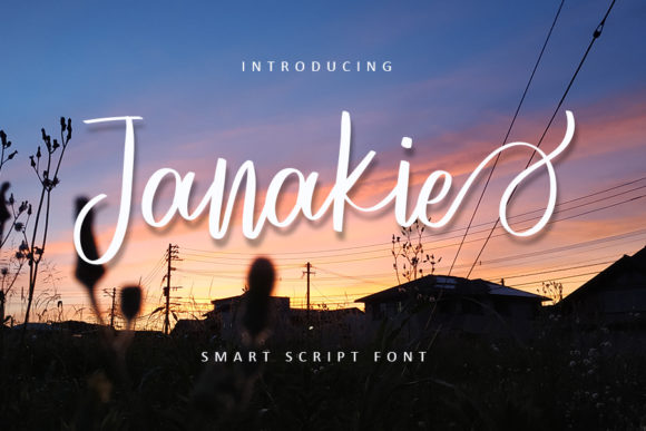 Print on Demand: Janakie Script & Handwritten Font By FreshTypeINK