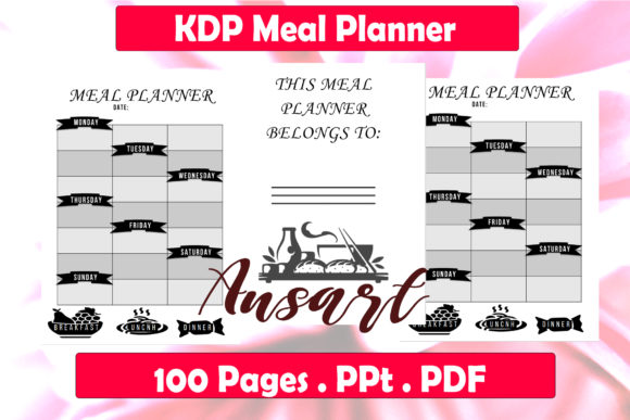 Print on Demand: KDP Meal Planner Graphic KDP Interiors By Ansart
