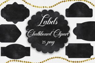 Print on Demand: Labels Chalkboard Clipart Graphic Illustrations By PinkPearly