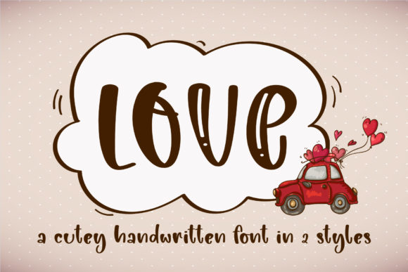 Print on Demand: Love Script & Handwritten Font By BitongType