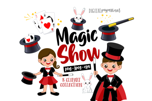 Print on Demand: Magic Show Clipart Set Graphic Illustrations By DigitalPapers