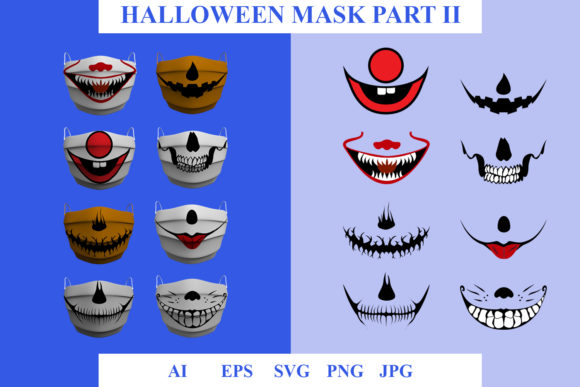 Mask Themes Scary Concept II Graphic Illustrations By ogsstudio25