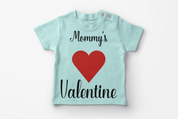 Mommy's Valentine Svg. Heart Svg T-shirt Graphic Crafts By CuteShopClipArt