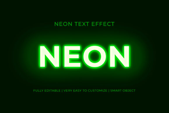 Neon 3D Text Effect Graphic Graphic Templates By GraphicHut