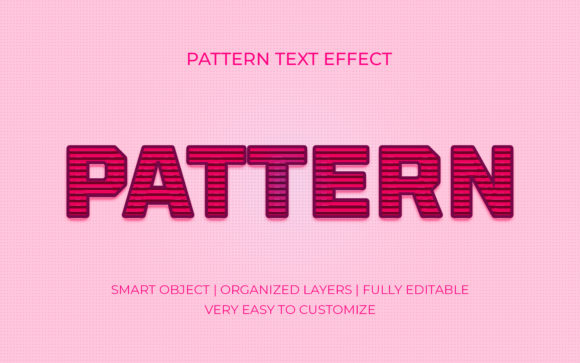 Pattern 3D Pink Text Effect Graphic Graphic Templates By GraphicHut