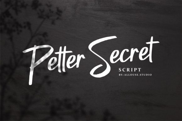 Print on Demand: Petter Secret Manuscrita Fuente Por allouse.studio