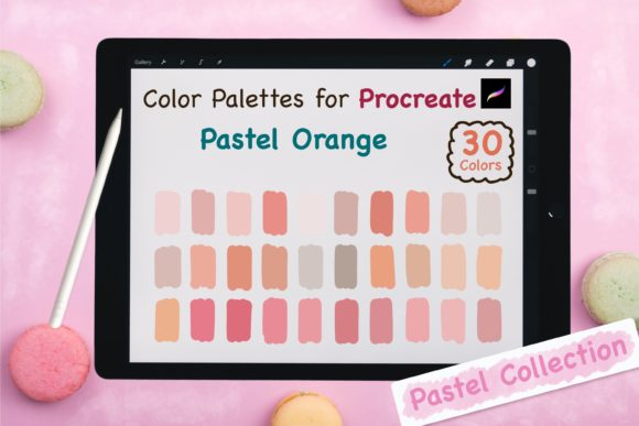 Procreate Color Palette-Pastel Orange Graphic Add-ons By jennythip