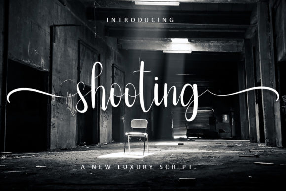 Print on Demand: Shooting Script & Handwritten Font By FreshTypeINK