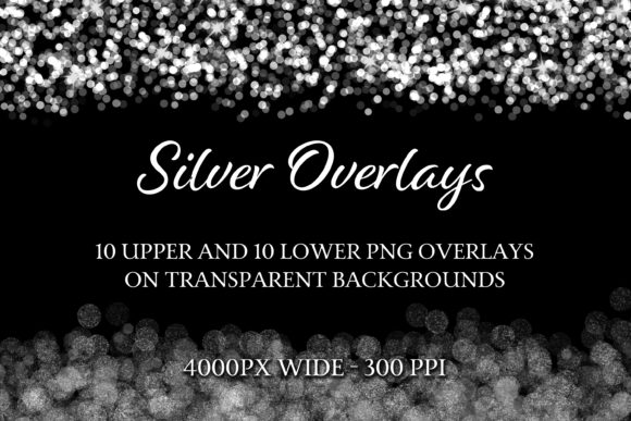 Print on Demand: Silver Overlays Graphic Objects By SapphireXDesigns