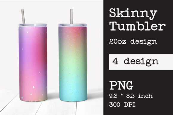 Skinny Tumbler Sublimation Template 20oz Graphic Print Templates By KundolaArt