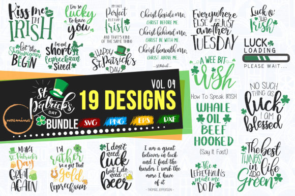 Print on Demand: St. Patrick's Day Quote Bundle Vol.04 Graphic Crafts By Uramina