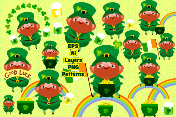 Print on Demand: St.Patrick 's Day BIG Set/patterns Too Graphic Illustrations By ladymishka