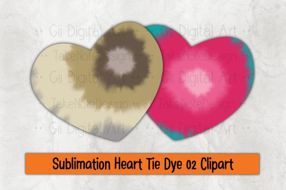 Print on Demand: Sublimation Heart Tie Dye 02 Clipart Graphic Crafts By Gii Digital Art