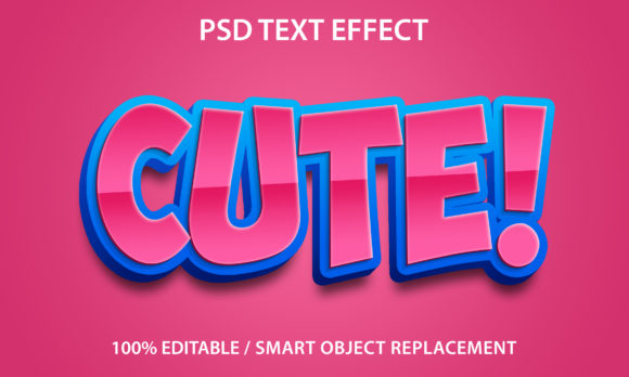 Text Effect Cute Premium Graphic Graphic Templates By yosiduck