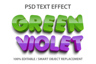 Text Effect Green and Violet Premium Graphic Graphic Templates By yosiduck