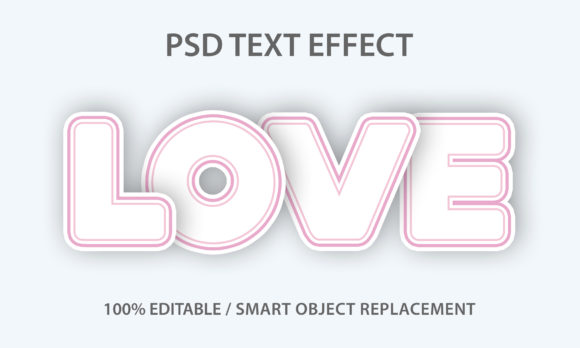 Text Effect Love Paper Premium Graphic Graphic Templates By yosiduck