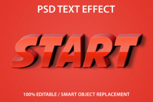 Print on Demand: Text Effect Red Start Premium Graphic Graphic Templates By yosiduck