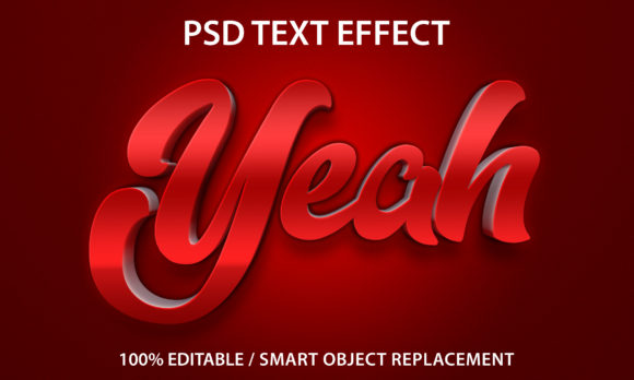Text Effect  Red Yeah Premium Graphic Graphic Templates By yosiduck