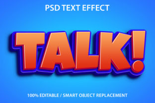 Print on Demand: Text Effect Talk Premium Graphic Graphic Templates By yosiduck