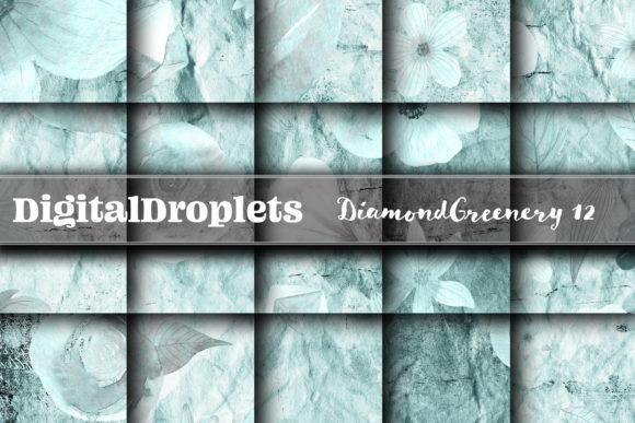 The Diamond Greenery Collection 12 Graphic Backgrounds By digitaldroplets